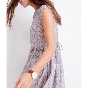 Madewell Tie-Back Shadowpetal Mini Dress Size S